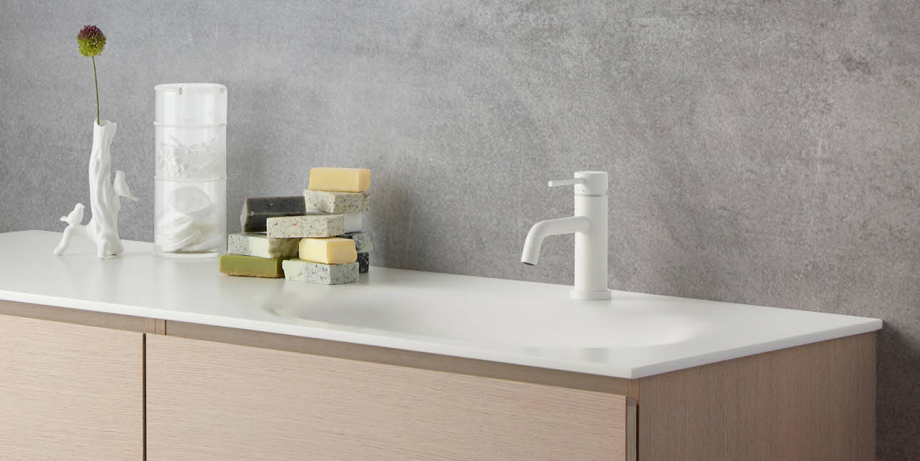 Corian/ Solid Surface bad bordplade